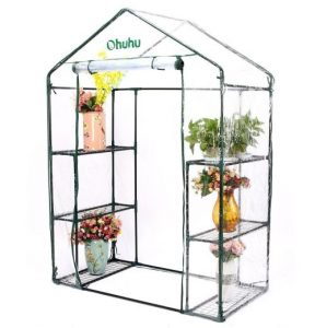 Abba Patio 8 X 10 Feet Large Walk In Fully Enclosed Lawn And Garden  Greenhouse With Windows, White